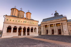 Bucarest, Romania - 4 gennaio: Chiesa metropolitana Immagine Stock