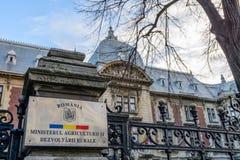 Bucarest, Romania - 4 gennaio: Ministero di sviluppo rurale e di agricoltura Fotografia Stock