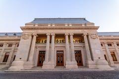 Bucarest, Romania - 4 gennaio: Palazzo ortodosso di patriarcato sopra Immagini Stock Libere da Diritti