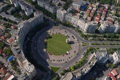 Bucarest, Romania, il 15 maggio 2016: Vista aerea di Piata Alba Iulia immagini stock libere da diritti