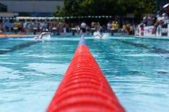 Bucarest, Romania, 2013: nuotatore non identificato durante lo swimaton bucuresti 2013 Fotografia Stock Libera da Diritti