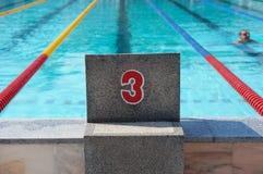 Bucarest, Romania, 2013: nuotatore non identificato durante lo swimaton bucuresti 2013 Fotografie Stock