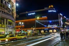 Bucarest, Roumanie - 25 décembre : Centre commercial d'Unirea sur Dece Image stock