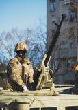 BUCAREST, ROUMANIE, LE 1ER DÉCEMBRE : Défilé militaire le jour national de la Roumanie, Arc de Triomphe, le 1er décembre 2013 à B Photographie stock
