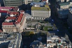 Bucarest, Roumanie, le 9 octobre 2016 : Vue aérienne de cercle militaire national photo libre de droits
