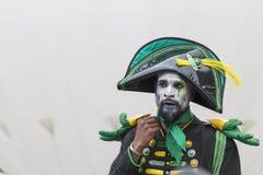 Bucarest, Roumanie - 29 mai 2014 : Les tambours de Cameleons Team l'exposition des interprètes des Frances Photo stock
