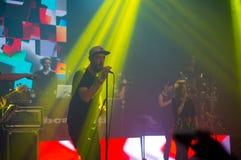 BUCAREST, ROUMANIE - 30 NOVEMBRE 2014 : Concert de Subcarpati pour R Photo libre de droits