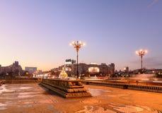 Bucarest, Rumania ï ¿½ 26 de diciembre: Piata Unirii el 26 de diciembre, 2 Fotos de archivo libres de regalías