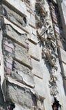 Bucarest, Rumania: adorno musical que desmenuza en el edificio Imagenes de archivo
