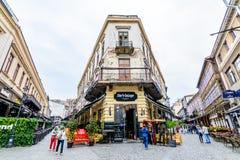BUCAREST, RUMANIA - 25 DE OCTUBRE DE 2015: Centro histórico, Lipsca Foto de archivo libre de regalías