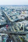 Bucarest - vista aerea del lato nord immagine stock