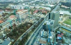 Bucarest - vista aerea del lato nord fotografia stock