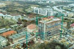 Bucarest - vista aerea del lato nord fotografie stock