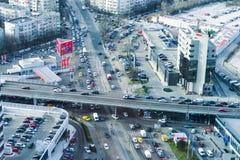 Bucarest - vista aerea del nord immagini stock