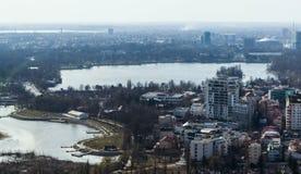 Bucarest - vista aerea immagini stock