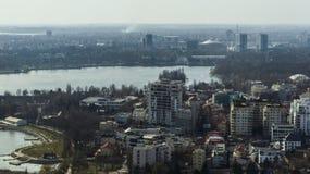 Bucarest - vista aerea immagine stock libera da diritti