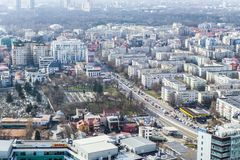 Bucarest - vista aerea fotografia stock libera da diritti