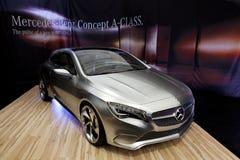 BUCARESTE - ABRIL 8: Conceito novo da Um-Classe, Mercedes Fotografia de Stock Royalty Free
