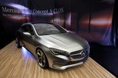 BUCARESTE - ABRIL 8: Conceito novo da Um-Classe, Mercedes Imagens de Stock Royalty Free