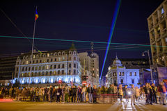 Bucareste - Calea Victoriei Fotos de Stock Royalty Free