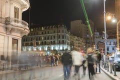 Bucareste - Calea Victoriei Foto de Stock Royalty Free