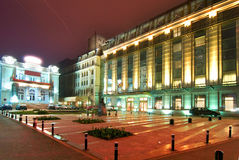 Bucareste central em a noite Foto de Stock
