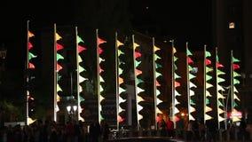 Bucareste, festival de luzes 2018 video estoque