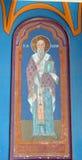 Bucareste, Romênia: Ícone de St Visarion Foto de Stock Royalty Free