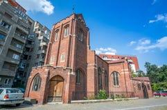 BUCARESTE, ROMÊNIA - agosto, 28, 2014: Igreja anglicana em Buchar Fotos de Stock Royalty Free