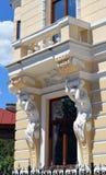 Bucareste, Romênia: balcão e janela no bulevar Lascar Catar Foto de Stock