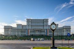 Bucareste, Romênia - 1º de dezembro: Casa Poporului o 1º de dezembro, Fotos de Stock Royalty Free