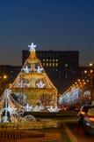 Bucareste, Romênia - 2 de janeiro: Piata Unirii, palácio de Parliame Imagem de Stock Royalty Free