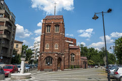 BUCARESTE, ROMÊNIA - 21 de junho: Igreja anglicana o 21 de junho de 2013 mim Imagens de Stock