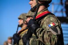 BUCARESTE, ROMÊNIA - 25 de outubro de 2018: Forças especiais romenas s fotos de stock royalty free