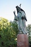 Bucareste, Romênia: Estátua de Saint Antim Ivireanul Fotografia de Stock