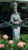 Bucareste, Romênia: Figura da aleia das cariátides, Herastra Imagem de Stock