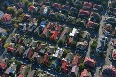 Bucareste, Romênia, o 9 de outubro de 2016: Vista aérea das casas em Bucareste foto de stock