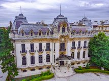 Bucareste, Romania 8 de julho de 2018 George Enescu Museum, igualmente conhecido como o palácio de Cantacuzino de Bucareste, Romê foto de stock