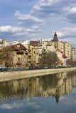 Bucareste - vista sobre o rio de Dambovita Imagem de Stock Royalty Free