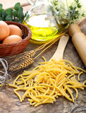 Bucatini - Italian raw pasta Royalty Free Stock Photos