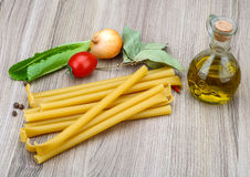 Bucatini pasta Stock Image