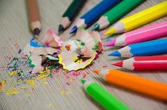 Bucce della matita Fotografia Stock Libera da Diritti