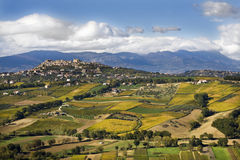 Bucchianico. View of country Bucchianico and cultivated hills surrounding Stock Image