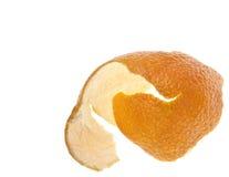 Buccia d'arancia della clementina Fotografia Stock
