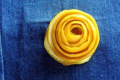 Buccia del mandarino Fotografia Stock
