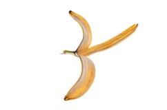 Buccia della banana su fondo bianco Immagine Stock Libera da Diritti