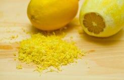 Buccia di limone Immagini Stock