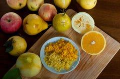 Buccia di limone e dell'arancia fotografia stock