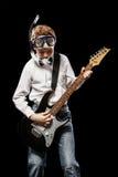 Buceador con una guitarra Imagen de archivo