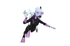 Buceador del robot Imagenes de archivo